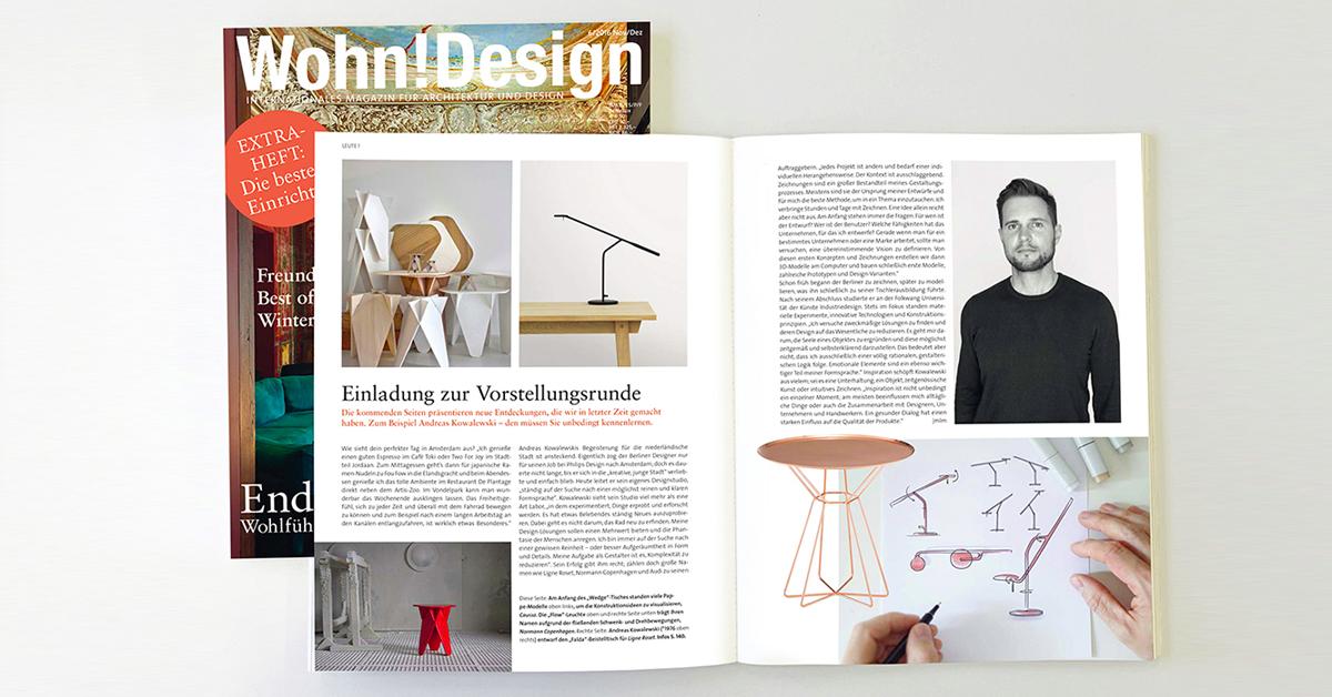 Wohn Magazine caussa with andreas kowalewski in wohn design